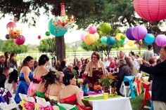 Burst of Color Wedding Party Ideas   Photo 15 of 36   Catch My Party
