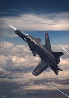 Sukhoi 37/47, which became the Pak FA without the forward swept wing. Future historians will look at these things as among the last manned tactical aircraft.
