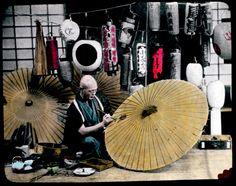 An idyllic, hand-colored look at Meiji-era Japan