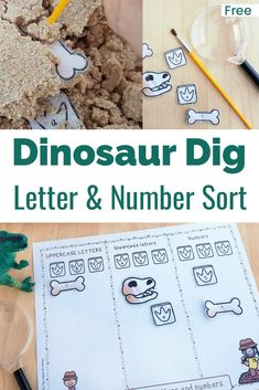 Dinosaur Theme Preschool, Dinosaur Alphabet, Dinosaur Dig, Dinosaur Crafts, The Good Dinosaur, Preschool Science, Preschool Crafts, Preschool Prep, Preschool Themes