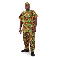 Kente Pant Set #2 $19.95 Get dressed the kente way. Comes with hat, dashiki, and pants. C-U164