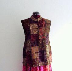 Sale Bohemian Velvet Vest. Plus Size by KheGreen on Etsy