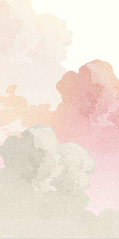 Download premium illustration of Pastel pink cloud wallpaper 2194211