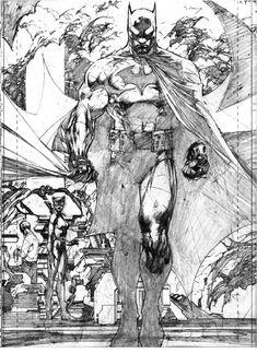 Jim Lee illustration from Batman: Hush Comic Book Artists, Comic Book Characters, Comic Artist, Comic Character, Comic Books Art, Bd Comics, Marvel Dc Comics, Anime Comics, Ms Marvel