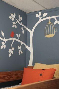 Tree birds painting