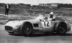 Mercedes-Benz W196 driven by Sir Stirling Moss in the 1955 British Grand Prix