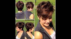 Повседневная стрижка на короткие волосы.