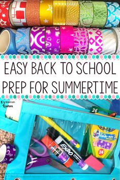 While teachers should take time to relax and enjoy their summer break, many want to get a jumpstart on classroom prep. Here is a quick and easy tip to help you prepare for the back to school rush, with minimal time now. #classroomorganization #classroommanagement