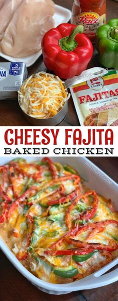 Cheesy Fajita Baked Chicken Cheesy Fajita Baked Chicken,Chicken Recipes Cheesy Fajita Baked Chicken – Instrupix There are images of the best DIY designs in the world. Baked Chicken Breast, Baked Chicken Recipes, Chicken Breasts, Baked Chicken Fajitas, Grilled Chicken, Low Carb Recipes, Cooking Recipes, Healthy Recipes, Cooking Hacks