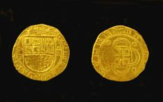Gold 4 Escudos Coin Ð The largest and perhaps the most beautiful gold coin recovered from the 1622 galleons is from wreck of the Santa Marga...