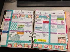 The Life of a Crafting Social Worker: Erin Condren Life Planner to a Kikki.K- washi tape to customize Planner Layout, Planner Pages, Planner Stickers, Planner Ideas, 2015 Planner, Weekly Planner, Planer Organisation, Midori, Day Planners