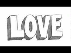 How To Draw Love In 3d Idée De Dessin Facile Comment
