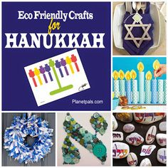 Eco friendly Ideas and Crafts for Hanukkah, Passover, Judaica :) Hanukkah Crafts, Jewish Crafts, Christmas Hanukkah, Hannukah, Green Christmas, Holiday Crafts, Christmas Holidays, Christmas Decorations, Holiday Ideas