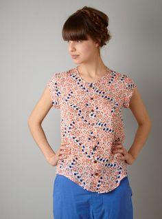 Rachel Comey Enloe Silk Floral Print Top