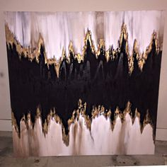 Abstract gold leaf painting by PenAndPaintDesigns on Etsy House Painting, Diy Painting, Craft Day, Painted Leaves, Resin Art, Art Pictures, Diy Art, Cool Art, Art Pieces