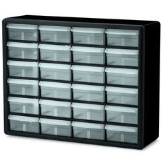 Amazing Black Plastic 24 Drawer Storage Cabinet