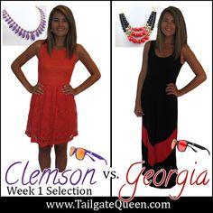Clemson vs. Georgia Matchup - www.TailgateQueen.com