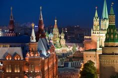 Travel Photography Russia, Moscow, View over the Kremlin, Red Square
