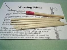 a weaving sticks kit
