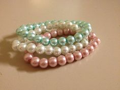 Pearl Bracelets set of 3 by originalsbyem on Etsy Pearl Bracelets, Bracelet Set, My Etsy Shop, Trending Outfits, Unique Jewelry, Handmade Gifts, Pearls, Shopping, Vintage