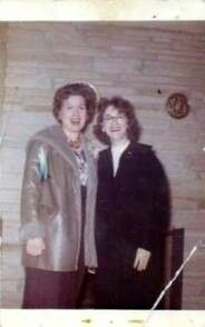Patsy With Friend, Neighbor and Session Singer Carol Montgomery, from her personal photo collection...Carol states this was after Patsy's car accident....