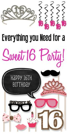 Sweet 16 Party Decorations and Ideas at TheFrugalGirls.com