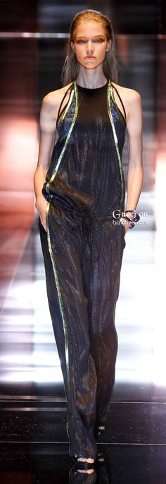 Gucci Spring Summer 2014: Gucci was inspired by Art Nouveau for its Spring Summer 2014 collection. The collection represented fluid movements and rhythm just like the 1890's.