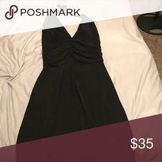 Nice knee length halter dress Halter dress. Worn once. White House Black Market Dresses
