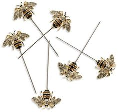 Bumblebee Cocktail Picks, Set of 6 #cocktails #homebar #barware #ad