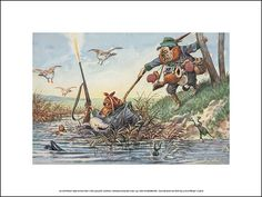 Dachshund Hunts Ducks Dachshund Art