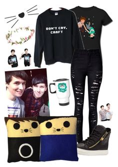"""""""Phandom by T"""" by trinityandnikita on Polyvore featuring WithChic and Giuseppe Zanotti"""