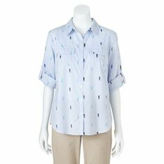 Croft & Barrow Printed Roll-Tab Shirt - Kohl's