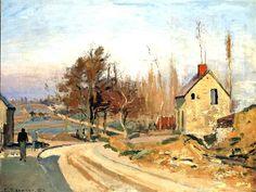 Route d'Osny à Pontoise Camille Pissarro