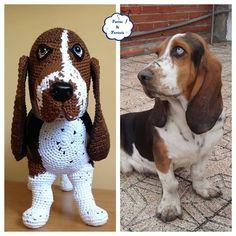 free crochet patterns hound dog toys - Google Search
