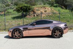 #Aston Martin #Vantage Rose Gold sittin on #Forgiato Rims #Luxury #ExoticAutomotive