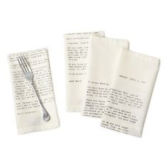 LOVE LETTER NAPKINS - SET OF 4 | Luxury Table Linens | UncommonGoods