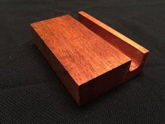 Wooden device stand mahagonany by WoodwardWorkshopTN on Etsy