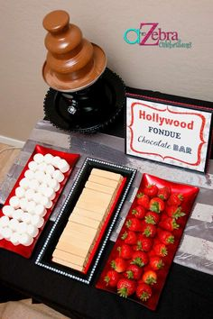 Hollywood chocolate fondue - gives me a reason to buy a fondue machine too :)