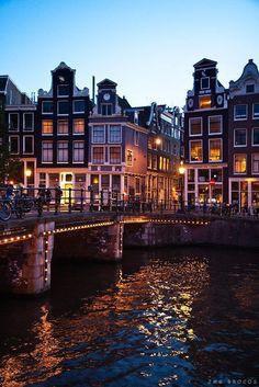 Amsterdam - The lights on the bridges