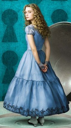 Alice In Wondeland. This dress is perect for Alice, its simple and little girl like.