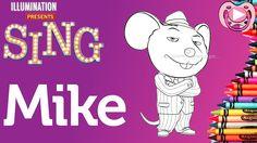 Personagens do filme Sing - Colorir o Mike