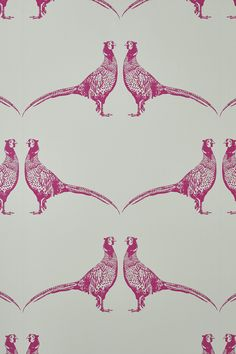 Animal print wallpaper doesn't have to be for nurseries. Two of my favourites are Pheasant wallpaper from Barneby Gates and Flamingoes from Cole & Son