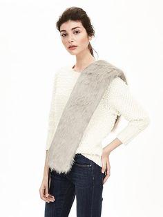 Faux-Fur Sweater Scarf
