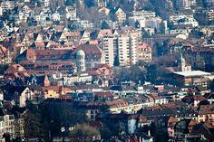 Blick von der Waid auf Zürich