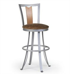 "Createch Zola 30"" Swivel Bar Stool with Cushion 