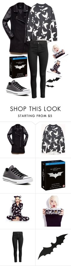 """""""Batman Fashion"""" by underwater-city ❤ liked on Polyvore featuring Forever 21 and Converse"""