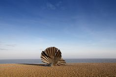 Shell Sculpture on Aldeburgh Beach Suffolk by Simon Verrall, via Flickr