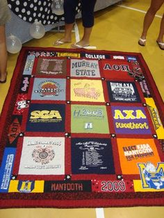 The best graduation gift everrr! Irreplaceable. My college life summed up in a quilt! :)