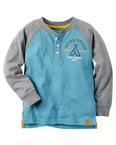 Baby Boy Long-Sleeve Colorblock Henley from Carters.com. Shop clothing & accessories from a trusted name in kids, toddlers, and baby clothes.