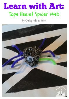 Doing an arts and crafts project with your child is more than just a fun activity, it is also a valuable learning experience. Learn with art and make a tape resist spider web and spider craft.